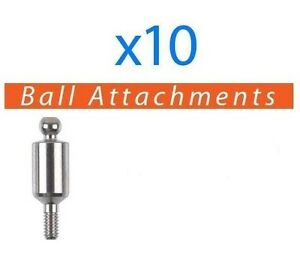 10 X Dental Titanium Ball Attachments For Implant Fits Ab Mis Zimmer And More