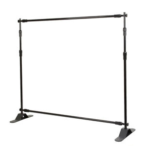 8 Telescopic Backdrop Stand Adjustable Banner Display Trade Show Wall Exhibitor