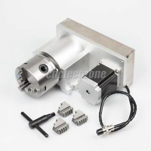 Cnc Router Rotary Indexer Rotational Axis A Axis 4th Axis 1 8 With 3 jaw Chuck
