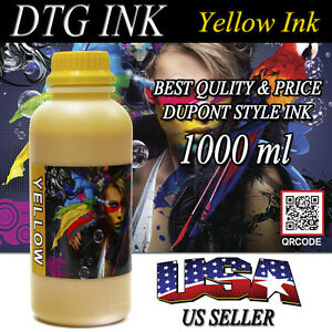 1000ml Yellow Ink Dtg Viper Dupont Style Ink Direct To Garment Printers