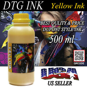 500ml Yellow Ink Dtg Viper Dupont Style Textile Ink Direct To Garment Printers