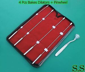 Bakes Rosebud Urethral Sounds Set 3mm 9mm 10mm 11mm Pinwheel