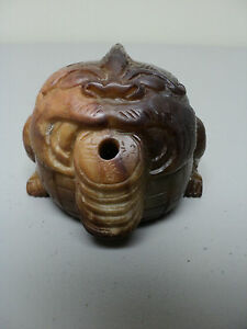 Unusual 19th C Chinese Carved Nephrite Jade Mythical Figural Incense Burner