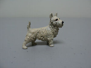 Rare Miniature Austrian Bronze Cold Painted West Highland White Terrier Figurine