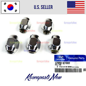 Wheel Lug Nut 5pcs Genuine 52950m1000 Hyundai Kia 2004 2018 See Compatibility