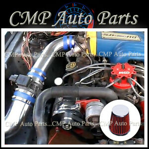 Blue Red 1987 1993 Ford Mustang 5 0 5 0 Gt Lx Cold Air Intake Kit Systems
