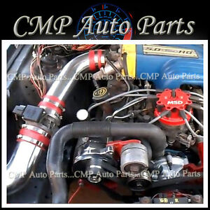 Red 1987 1993 Ford Mustang 5 0 5 0 Gt Lx Cold Air Intake Kit Induction Systems