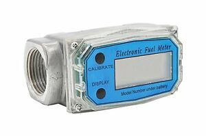 Turbine Digital Diesel Oval Gear Fuel Flow Meter Bspt npt 1 10 200l min