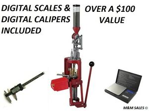 Hornady Lock-N-Load AP Progressive Press ALSO INCLUDE DIGITAL CALIPERS AND SCALE