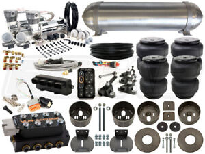 Complete Air Ride Suspension Kit 1965 1970 Cadillac Deville Level 4 W Accuair
