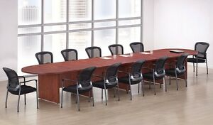 New Amber 18 Racetrack Conference boardroom meeting Room Office Table