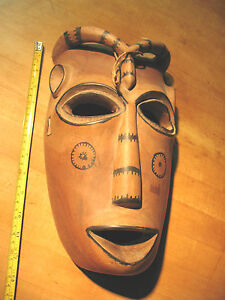 African Tribal Horned Mask Unknown Region