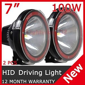 2 Pcs 100w 7 Hid Xenon Driving Light Spot Beam Off Road Lamp Offroad 7 Inch