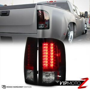 For 07 13 Chevy Silverado 1500 2500hd 3500hd wine Red Led Smd Rear Tail Light