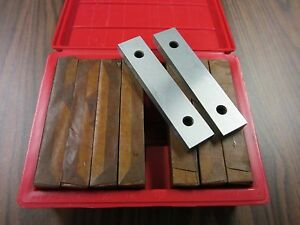 1 2 Thick Precision Steel Parallel Set 8 Pairs set 0 0002 Accu 703 1 2 new