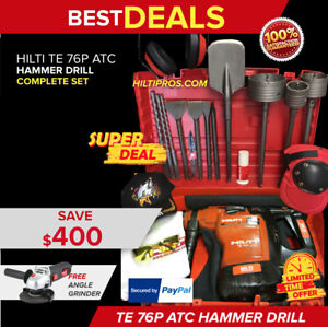 Hilti Te 76 p Atc Rotary Hammer Drill Excellent Condition Free Bits