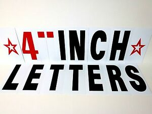 Extra Letter Kit 257pc For Sidewalk Sign black Letters 4 Changeable Flexible