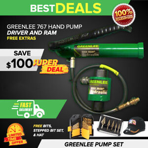 Greenlee 767 Hand Pump Hydraulic Driver Ram Greenlee Polo Shirt Knife