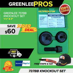 Greenlee 737bb Knockout Punch Set 1 1 2 2 in Excellent Condition Fast Ship