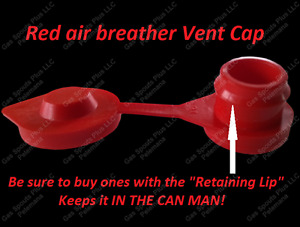 1 pack gas can red vent cap air Breather Fix Your Can Glug wedco blitz scepter