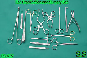 Ear Examination And Surgery Kit Surgical Instruments ds 615