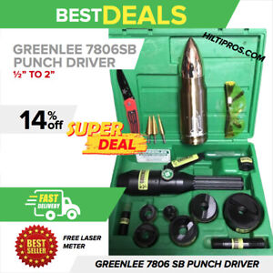 Greenlee 7806sb Hydraulic Punch Driver Kit 1 2 2 Preowned A Lot Of Extra
