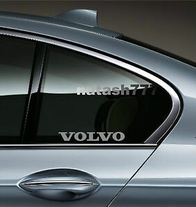 2 Volvo Sport Racing Decal Sticker Emblem Logo Silver