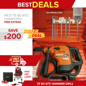 Hilti Te 60 Atc Hammer Drill In Mint Condition Preowned Fast Shipping