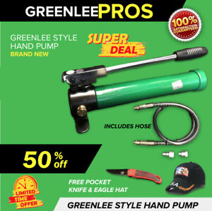 Greenlee 767 Hydraulic Style Hand Pump With Hose Preowned L k Fast Shipping