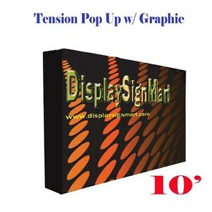 10 Pop Up Stand W Free Printing Tension Fabric Trade Show Display Booth Frame