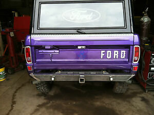 1966 1977 Ford Shoebox Bronco Rear Bumper
