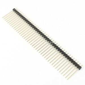 100pcs 2 54mm Pitch Male 40 Pin Single Row Straight Pin Header Strip Length 21mm
