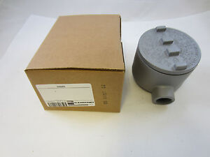 Oz gedney Gualb75 3 4 Explosion Proof Type Gua Outlet Box Grlb75 Guab26