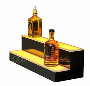 22 Led Bar Shelf Two Step Liquor Bottle Shelves Bottle Display Shelving Rack