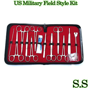 24 Us Military Field Style Medic Instrument Kit Medical Surgical Nurse Ds 888