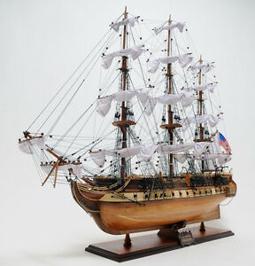 Uss Constitution Exclusive Edition 38 Handcrafted Wooden Model Ship T012
