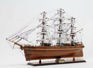 Cutty Sark British Clipper Handmade Wooden Tall Ship Model 34 T016
