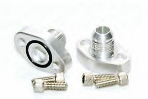 Billet Aluminum Bbc 12 An Block Adapter For Inline Electric Remote Water Pump