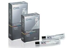 Netc Dental Non Eugenol Temporary Cement by Meta Biomed 40g Base 14g Catlyst