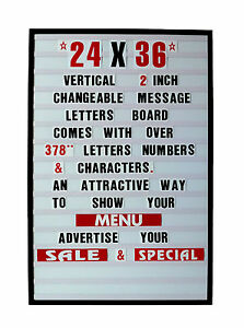 Changeable Letters Message Sign Menu Price Marquee Reader Board 24 X 36