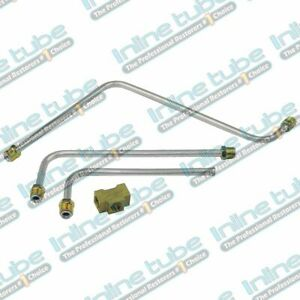 1962 Pontiac Pump To Carburetor Carb Fuel Lines Dual Quad Sd Set Kit Stainless 4
