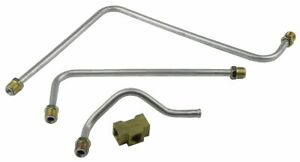 1963 Pontiac Pump To Carburetor Carb Fuel Lines Dual Quad Sd Set Kit Aluminum 4p