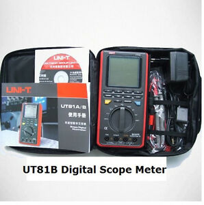 Ut81b Digital Scope Meter Multimeter Tester 8mhz Bw 40msa s Usb Pc Software Tool
