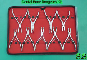 9 Pcs Bone Rongeurs Kit Stainless Steel Surgical Orthopedic Instruments