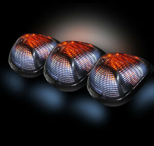 Recon Ford Super Duty Clear Led Cab Lights With Strobe Option Part 264143cls