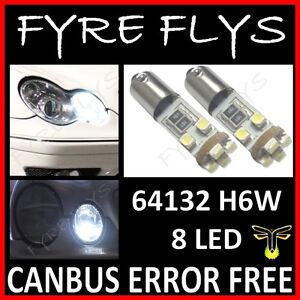 Xenon White Error Free 64132 H6w Led Bulbs For Mercedes Benz Parking Lights Y6