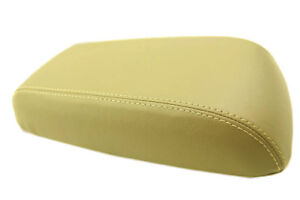 Armrest Center Console Lid Cover Leather Synthetic For 05 07 Ford Escape Beige