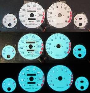 90 91 92 93 Acura Integra Gsr White Face Indiglo Reverse Glow Gauges 9k Rpm