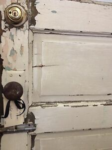 1950 S Vintage Door W Glass Window