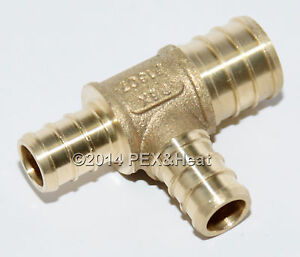 25 3 4 X 1 2 X 1 2 Pex Tee Brass Crimping Fittings